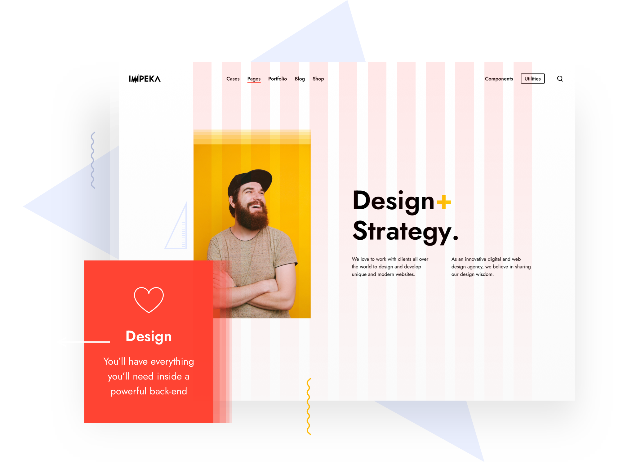 Advanced Grid System in Impeka - Premium WordPress Multipurpose theme by Greatives